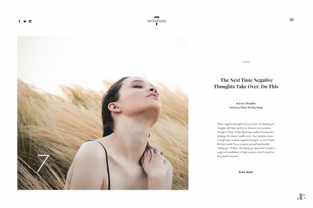 7Intentions - Web Design Project - Johanna Roussel