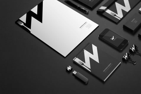 WhiteRicevimenti - Branding development and corporate identity by Johanna Roussel